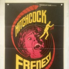 Cine: FRENESI - POSTER CARTEL ORIGINAL - HITCHCOCK JON FINCH BARRY FOSTER FRENZY MAC. Lote 133294642