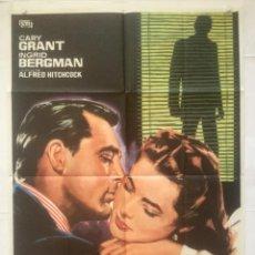 Cine: ENCADENADOS - POSTER CARTEL ORIGINAL - CARY GRANT INGRID BERGMAN NOTORIOUS. Lote 133295646