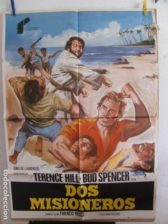 CARTEL CINE ORIG DOS MISIONEROS (1974) 70X100 / BUD SPENCER / TERENCE HILL / JANO (Cine - Posters y Carteles - Comedia)