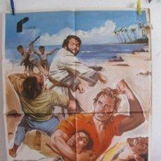 Cine: CARTEL CINE ORIG DOS MISIONEROS (1974) 70X100 / BUD SPENCER / TERENCE HILL / JANO. Lote 133373098