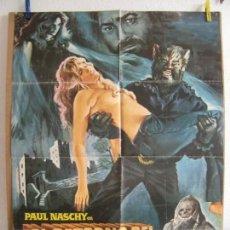 Cine: CARTEL CINE ORIG EL RETORNO DEL HOMBRE LOBO (1981) 70X100 / PAUL NASCHY, JULIA SALY, SILVIA AGUILAR. Lote 133374638