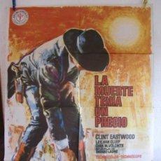 Cine: CARTEL CINE ORIG LA MUERTE TENIA UN PRECIO (1965) 70X100 / CLINT EASTWOOD / SERGIO LEONE. Lote 133408910