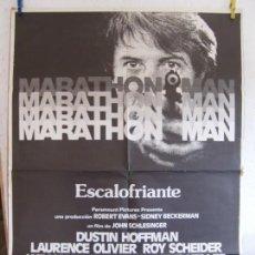 Cine: CARTEL CINE ORIG MARATHON MAN (1976) 70X100 / DUSTIN HOFFMAN / LAURENCE OLIVIER. Lote 133411594