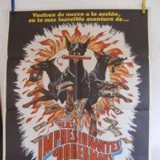 Cine: CARTEL CINE ORIG LOS IMPRESIONANTES DOMBERMANES (1976) 70X100 / JAMES FRANCISCUS / BARBARA EDEN. Lote 133412162