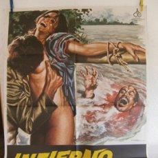 Cine: CARTEL CINE ORIG INFIERNO EN LA SELVA (1979) 70X100 / ROBERTO BIANCHI / MAC. Lote 133413682