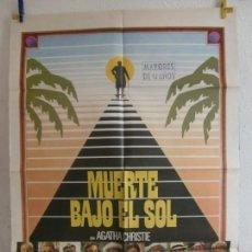 Cine: CARTEL CINE ORIG MUERTE BAJO EL SOL (1982) 70X100 / PETER USTINOV / JAMES MASON. Lote 133475846