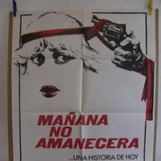 Cine: CARTEL CINE ORIG MAÑANA NO AMANECERA (1978) 70X100 / OLIVER REED / SUSAN GEORGE. Lote 133478306