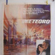 Cine: CARTEL CINE ORIG METEORO (1979) 70X100 / SEAN CONNERY / NATALIE WOOD. Lote 133481386