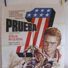 Cine: CARTEL CINE ORIG PRUEBA 1 (1971) 70X100 / STEVE MCQUEEN / BRUCE BROWN / DAVID EVANS / MAC. Lote 133675510