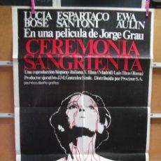 Cine: L1035 CEREMONIA SANGRIENTA. Lote 133973554