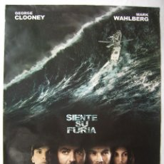 Cine: TORMENTA PERFECTA, CON GEORGE CLOOMEY. POSTER 67X 96 CMS. 2000.. Lote 133979978