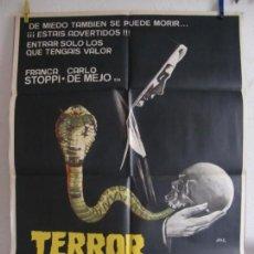 Cine: CARTEL CINE ORIG TERROR EN EL CONVENTO (1981) 70X100 / CARLO DE MEJO / BRUNO MATTEI / JANO. Lote 133993642