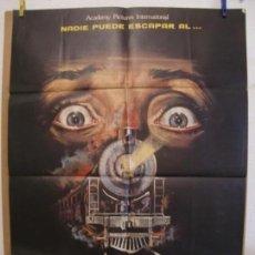Cine: CARTEL CINE ORIG TERROR EN EL TREN DE LA MEDIANOCHE (1980) 70X100 / MANUEL IGLESIAS. Lote 133994742