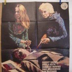 Cine: CARTEL CINE ORIG TERROR SIN HABLA (1974) 70X100 / RUPERT DAVIES / SHEILA KEITH / PETE WALKER / MAC. Lote 133995026