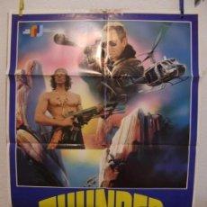 Cine: CARTEL CINE ORIG THUNDER POLICIA SIN LEY (1983) 70X100 / BO SVENSON / MARK GREGORY. Lote 133997642