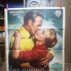 Cine: EL ARBOL DEL AHORCADO- GARY COOPER POSTER ORIGINAL ESPAÑOL 70X100 -AÑO 1959. Lote 134009570