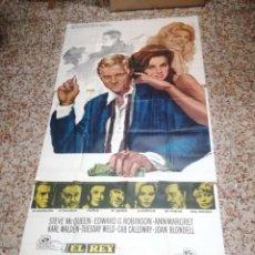 Cine: GRAN CARTEL 3 PIEZAS 100X210 CM- EL REY DEL JUEGO - 1975 -NORMAN JEWISON ,STEVE MCQUEEN ,ANN MARGRET. Lote 134010138