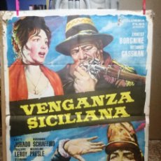 Cine: CARTEL 100X70 CM. VENGANZA SICILIANA - ERNEST BORGNINE, VITTORIO GASSMAN.. Lote 134011306