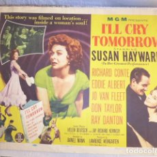 Cine: * ANTIGUO CARTEL DE CINE DE 1955 Y NUMERADO, I'LL CRY TOMORROW. ZX. Lote 134079458