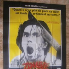 Cine: CARTEL GIGANTE FRANCÉS CINE ORIG ZOMBI (1978) 110X145 CM / GEORGE A ROMERO. Lote 134120270