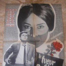 Cine: CARTEL FRANCÉS CINE ORIG LE TUEUR A LA ROSE ROUGE (1962) 57,5X79 CM / EUGENE MARTIN. Lote 134120870
