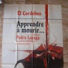Cine: CARTEL GIGANTE FRANCÉS CINE ORIG APRENDIENDO A MORIR (1962) 115X157,5CM / RAFAEL BENÍTEZ EL CORDOBES. Lote 134122562