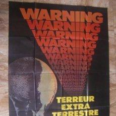 Cine: CARTEL GIGANTE FRANCÉS CINE ORIG LLEGAN SIN AVISAR (1980) 115X159CM / MARTIN LANDAU / JACK PALANCE. Lote 134123742