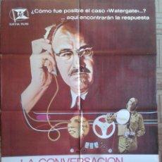 Cine: LA CONVERSACIÓN. POSTER ESTRENO 70X100CM. GENE HACKMAN. FRANCIS FORD COPPOLA. Lote 134149602