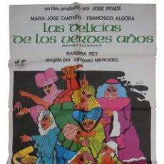 Cine: LAS DELICIAS DE LOS VERDES AÑOS. PRIETO (DISEÑO) MERCERO ANTONIO (DIRECTOR) 1976 MARÍA JOSÉ CANTUDO,. Lote 134188198