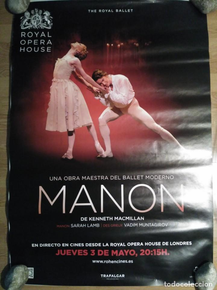OPERA: MANON - APROX 70X100 CARTEL ORIGINAL CINE (L60) (Cine - Posters y Carteles - Musicales)