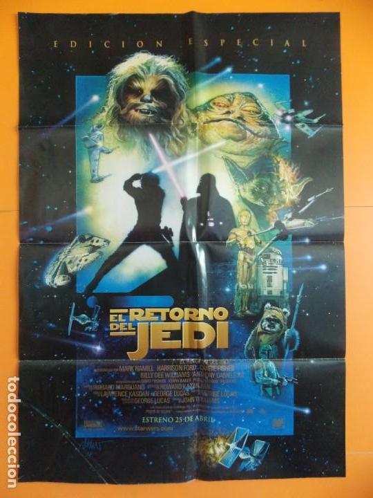 CARTEL, POSTER CINE - ORIGINAL - EL RETORNO DEL JEDI - 1997 - 70X100... R-10017 (Cine - Posters y Carteles - Ciencia Ficción)
