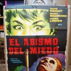 Cine: EL ABISMO DEL MIEDO. DAVID KNIGHT, MOIRA REDMOND, JENNIE LINDEN. AÑO 1964 CINE - POSTERS Y CARTELES. Lote 134506106