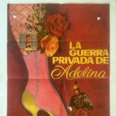 Cine: LA GUERRA PRIVADA DE ADELINA - POSTER CARTEL ORIGINAL CINE - CURD JURGENS 1ª GUERRA MUNDIAL . Lote 134543118