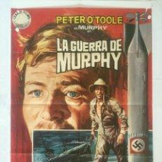 Cine: LA GUERRA DE MURPHY - POSTER CARTEL ORIGINAL CINE - PETER O'TOOLE 2ª GUERRA MUNDIAL SUBMARINOS JANO. Lote 134544218