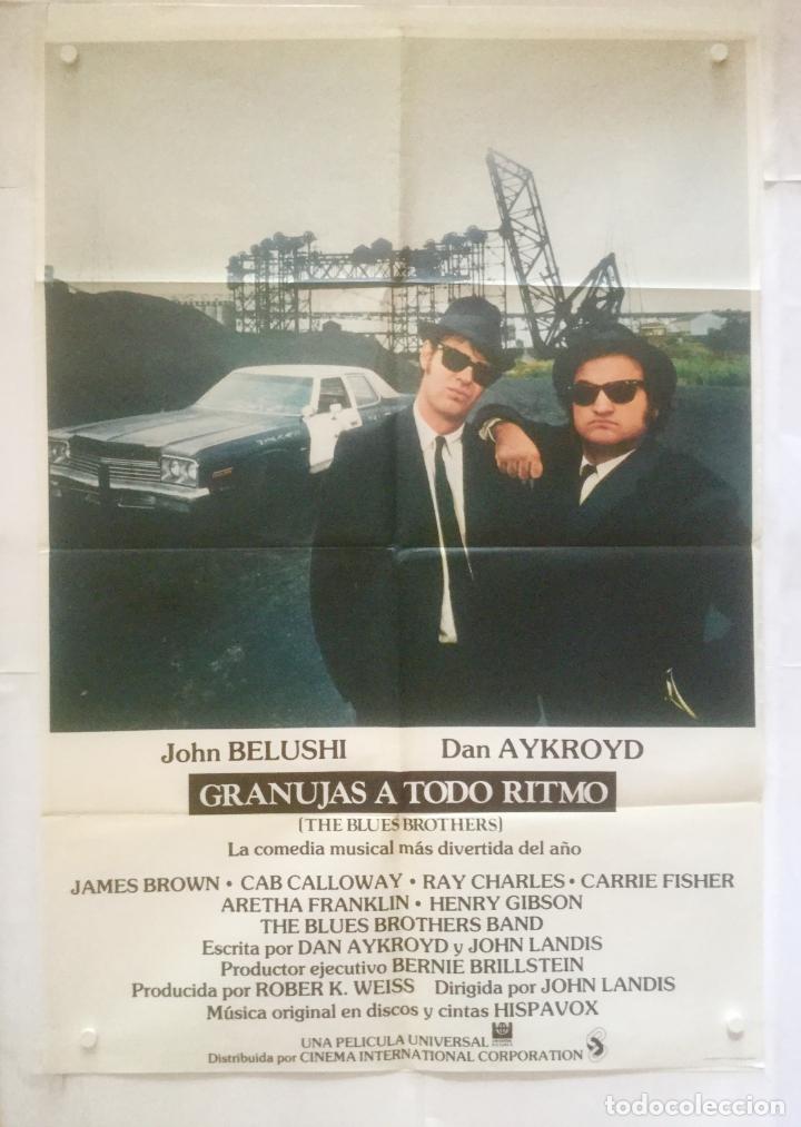 GRANUJAS A TODO RITMO - POSTER CARTEL ORIGINAL CINE - THE BLUES BROTHER ARETHA FRANKLIN (Cine - Posters y Carteles - Musicales)
