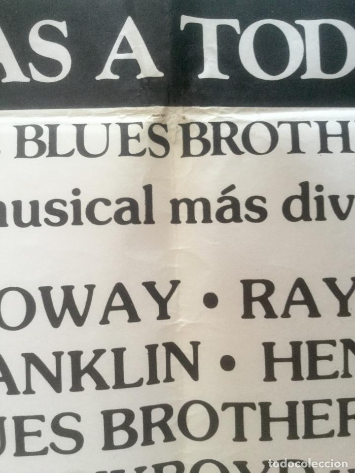 Cine: granujas a todo ritmo - poster cartel original cine - the blues brother Aretha Franklin - Foto 2 - 134545986