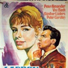 Cine: LADRÓN EN SU PROPIA CASA. CARTEL ORIGINAL SOLIGÓ. 1964 70X100. Lote 134666242