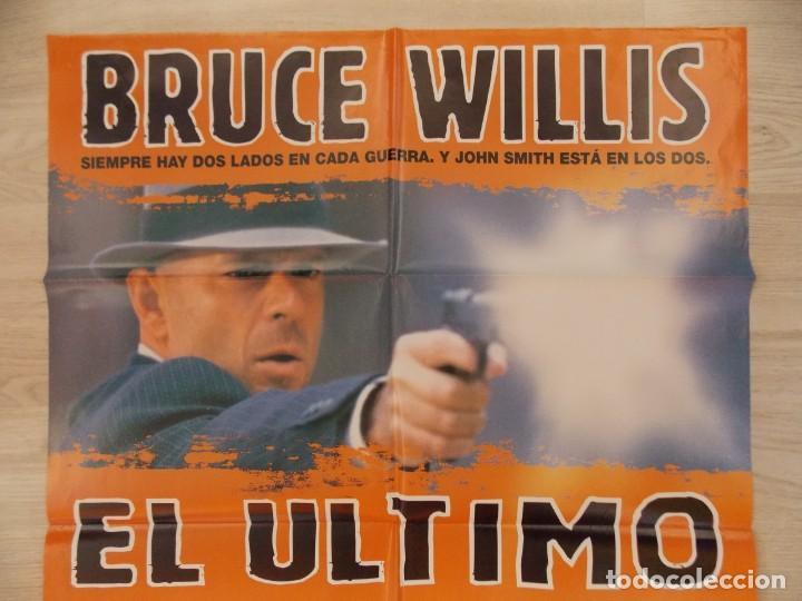 Cine: CARTEL , POSTER CINE - ORIGINAL - EL ULTIMO HOMBRE - BRUCE WILLIS - AÑO 1996 ... R-10022 - Foto 2 - 134747266