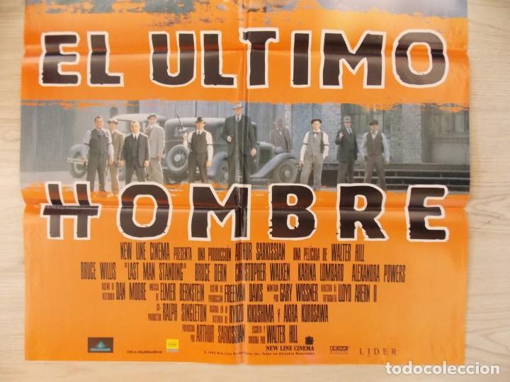 Cine: CARTEL , POSTER CINE - ORIGINAL - EL ULTIMO HOMBRE - BRUCE WILLIS - AÑO 1996 ... R-10022 - Foto 3 - 134747266
