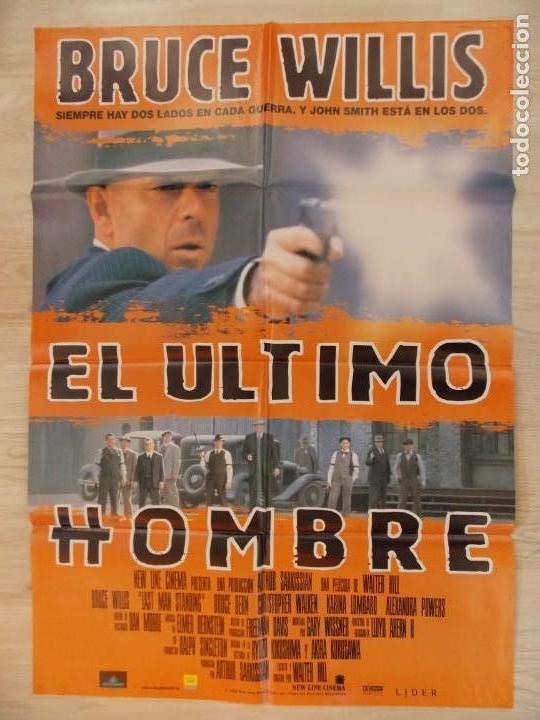 CARTEL , POSTER CINE - ORIGINAL - EL ULTIMO HOMBRE - BRUCE WILLIS - AÑO 1996 ... R-10022 (Cine - Posters y Carteles - Acción)