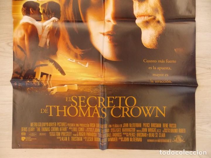 Cine: CARTEL, POSTER CINE - ORIGINAL - EL SECRETO DE THOMAS CROWN - PIERCE BROSNAN - 1999.. R-10024 - Foto 3 - 134750150