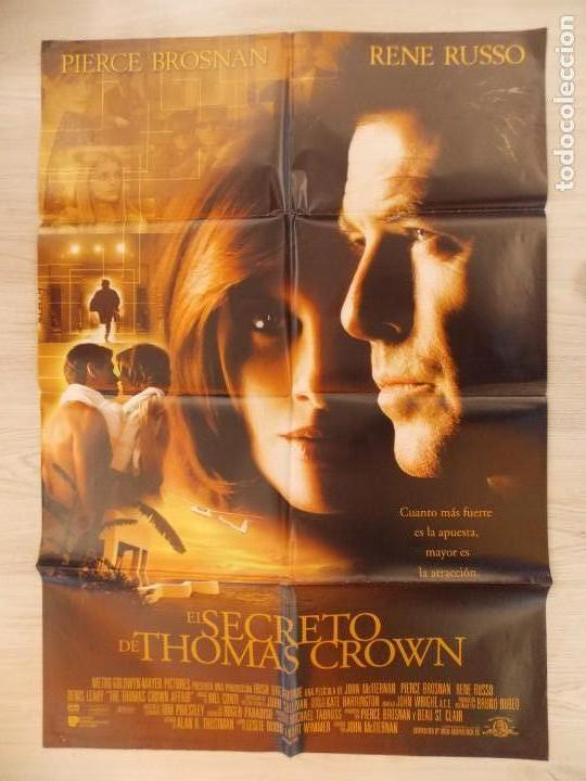 Cine: CARTEL, POSTER CINE - ORIGINAL - EL SECRETO DE THOMAS CROWN - PIERCE BROSNAN - 1999.. R-10024 - Foto 1 - 134750150