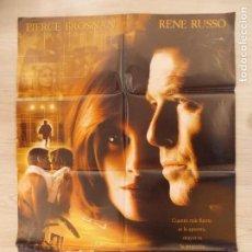 Cine: CARTEL, POSTER CINE - ORIGINAL - EL SECRETO DE THOMAS CROWN - PIERCE BROSNAN - 1999.. R-10024. Lote 134750150