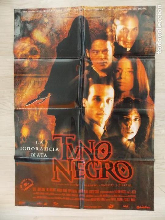 CARTEL, POSTER CINE - ORIGINAL - TUNO NEGRO - DIRECCION PEDRO BARBERO - 2001 - ESPAÑA... R-10031 (Cine - Posters y Carteles - Suspense)
