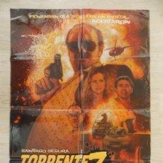 Cine: CARTEL, POSTER CINE - ORIGINAL- TORRENTE 3, EL PROTECTOR - SANTIAGO SEGURA - 2005 - ESPAÑA.. R-10032. Lote 134832690