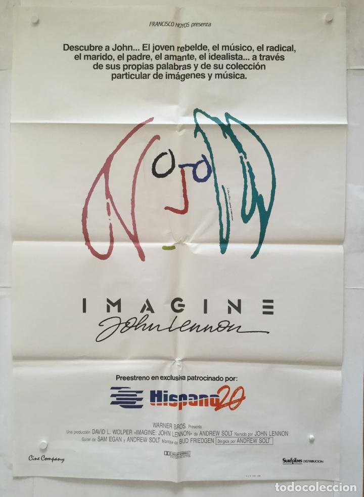 Imagine Poster Cartel Original John Lennon Buy Documentary Film Posters At Todocoleccion 135494237