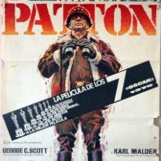 Cine: PATTON. GEORGE C. SCOTT. CARTEL ORIGINAL 1971. Lote 135019342