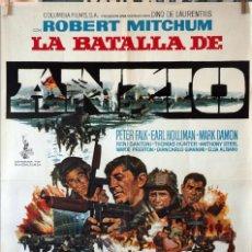 Cine: LA BATALLA DE ANZIO. ROBERT MITCHUM-PETER FALK. CARTEL ORIGINAL 70X100. Lote 135019702
