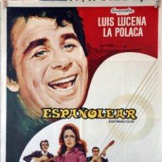 Cine: ESPAÑOLEAR. LUIS LUCENA-LA POLACA. CARTEL ORIGINAL 1969. 70X100. Lote 135020730