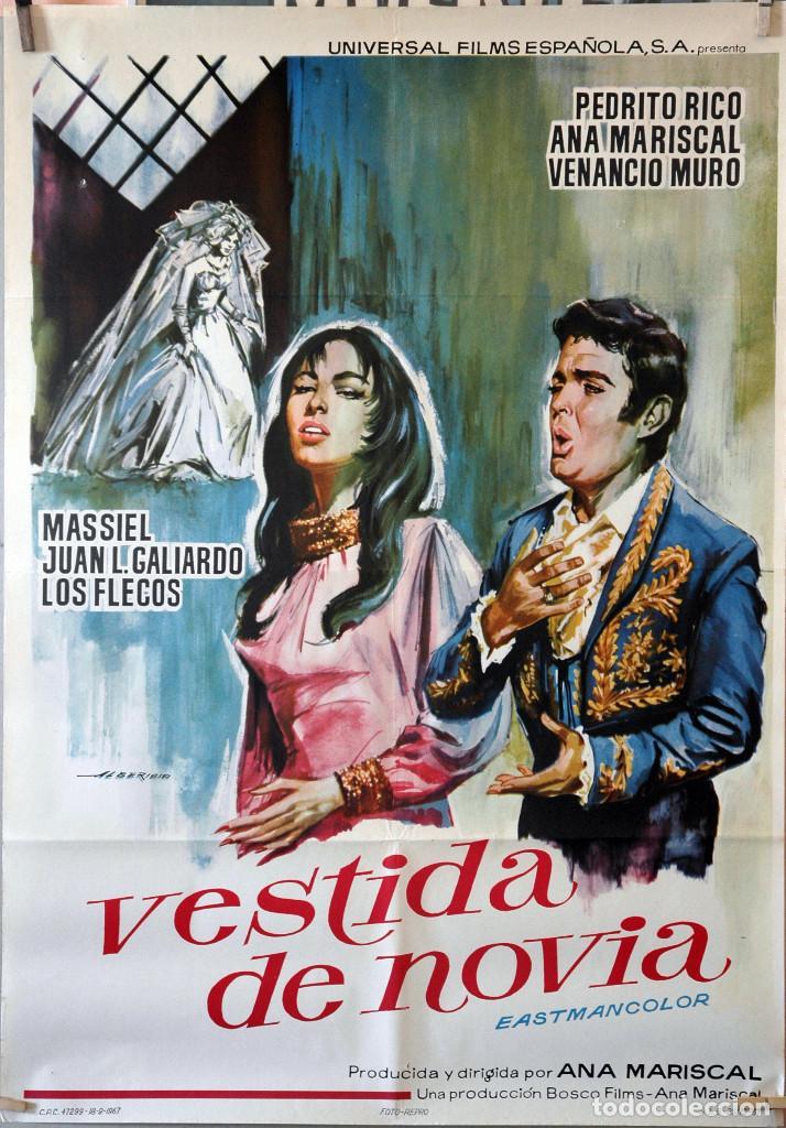 VESTIDA DE NOVIA. ANA MARISCAL. CARTEL ORIGINAL 1967. 70X100 (Cine - Posters y Carteles - Clasico Español)